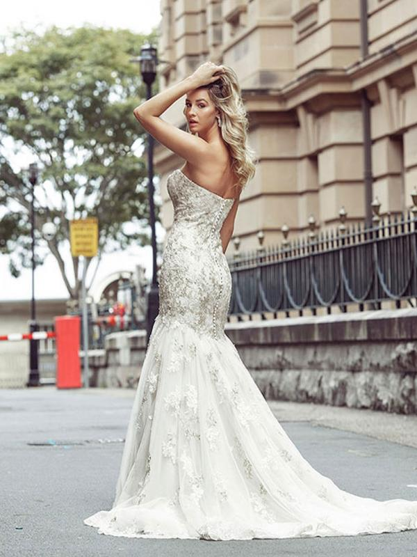 DAKOTA 2 cheap strapless wedding dresses Luv Bridal Gold Coast Australia