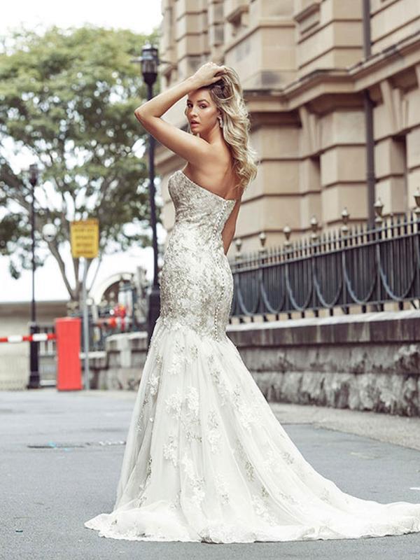 DAKOTA 2 cheap strapless wedding dresses Luv Bridal Gold Coast Australia