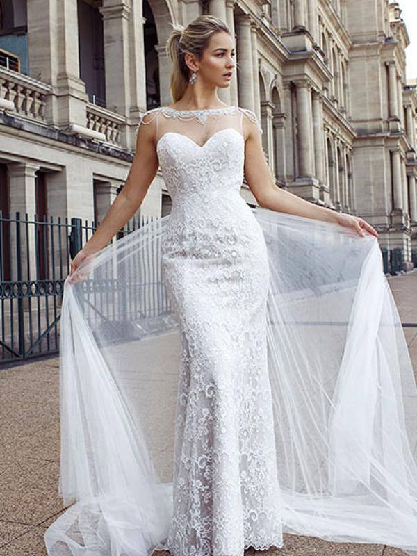 DANIELA 1 illusion wedding dress Luv Bridal Sunshine Coast Australia