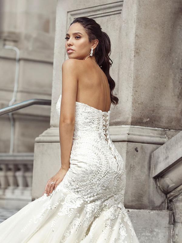 DANNI 01 lace up back art deco mermaid wedding dress Luv Bridal Gold Coast Australia