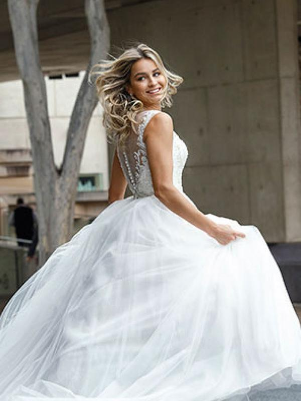 DECLA 4 full skirted princess ballgown Luv Bridal Gold Coast Australia