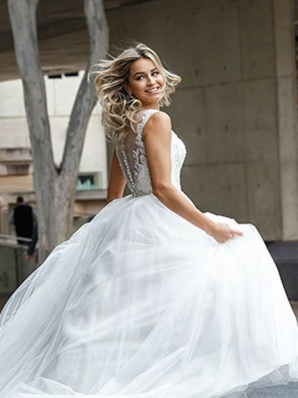 DECLA 4 full skirted princess ballgown Luv Bridal Gold Coast Australia
