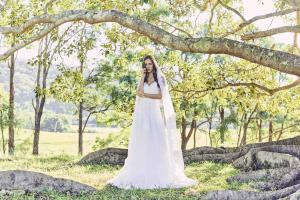 Luv Bridal Madi Lane Skye aline soft tulle lace vneck wedding dress Australia