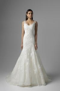CATALINA M1601Z lace and tulle fit and flare wedding dress Mia Solano Luv Bridal Melbourne Australia