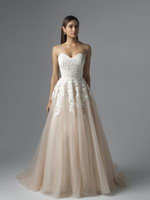 CARRIS M1650L nude ivory lace and tulle ballgown wedding dress Mia Solano Luv Bridal Brisbane Australia