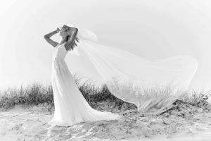 Skye Madi Lane Luv Bridal Byron Bay Australia white wedding dress long veil aline lace
