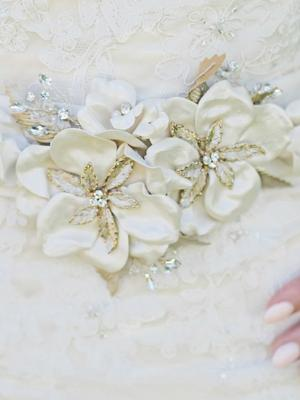 Pearl and bead flower belt-envouge-bridal-jewellery-luv-bridal