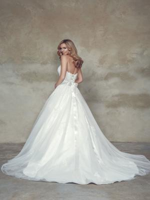 BIANCA M1534L scalloped beaded lace strapless sweetheart ballgown wedding dress Mia Solano Luv Bridal Melbourne Australia