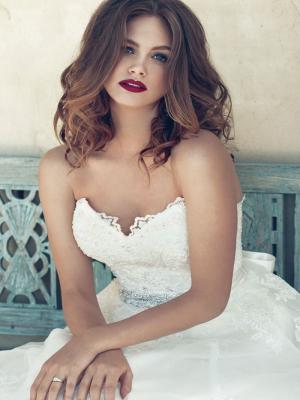 BIANCA M1534L strapless sweetheart beaded lace ballgown wedding dress Mia Solano Luv Bridal Melbourne Australia