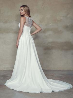 BOHEME M1544Z illusion beaded neck empire line chiffon wedding dress Mia Solano Luv Bridal Gold Coast Australia