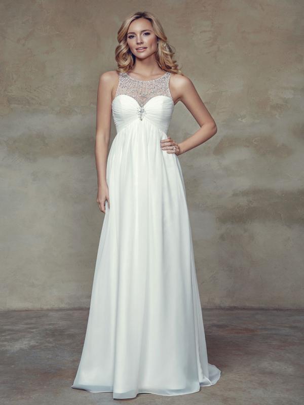 Cameo colored wedding dresses