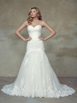 BRIANNA M1518L lace up strapless corset lace mermaid wedding dress Mia Solano Luv Bridal Melbourne Australia