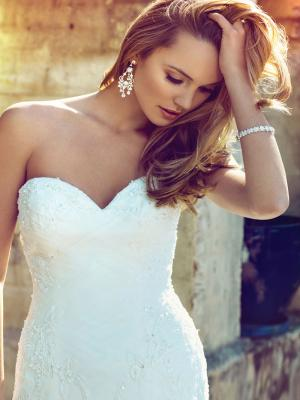 BRIANNA M1518L strapless corset bodice with ruching fitted mermaid wedding dress Mia Solano Luv Bridal Sydney Australia