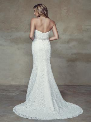 BRIGHTON M1522L full lace strapless sweetheart fitted wedding dress Mia Solano Luv Bridal Brisbane Australia