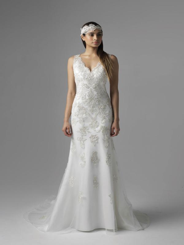 CAMEO M1678Z vintage beaded art deco slip wedding dress Mia Solano Luv Bridal Melbourne Australia