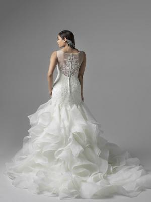 CELINE M1638Z fitted lace and ruffle frill mermaid wedding dress Mia Solano Luv Bridal Gold Coast Australia