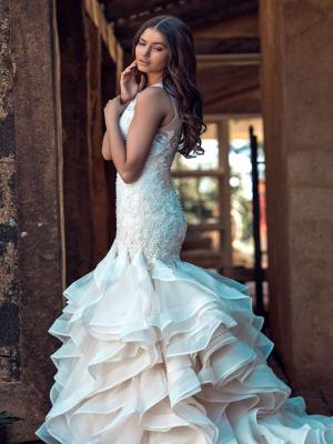 CELINE M1638Z fitted lace and ruffle skirt mermaid wedding dress Mia Solano Luv Bridal Melbourne Australia
