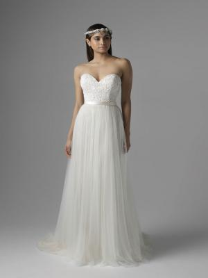 CHANEL M1628L tulle skirt lace bodice sweetheart strapless wedding dress Mia Solano Luv Bridal Sydney Australia