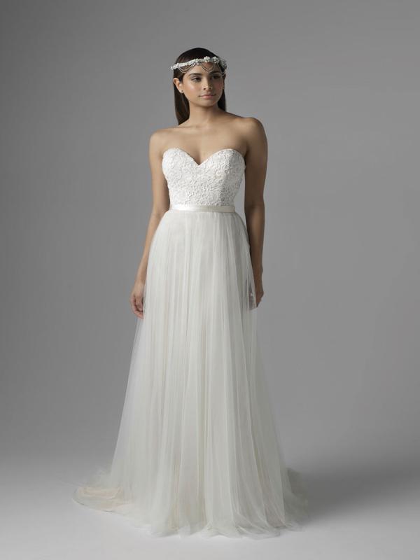 CHANEL M1628L tulle skirt lace bodice sweetheart strapless wedding dress Mia Solano Luv Bridal Sydney Australia