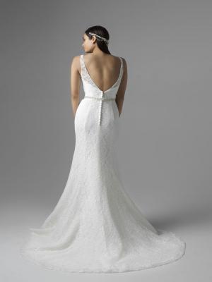 CHLOE M1660Z low button back fitted lace wedding dress Mia Solano Luv Bridal Sydney Australia