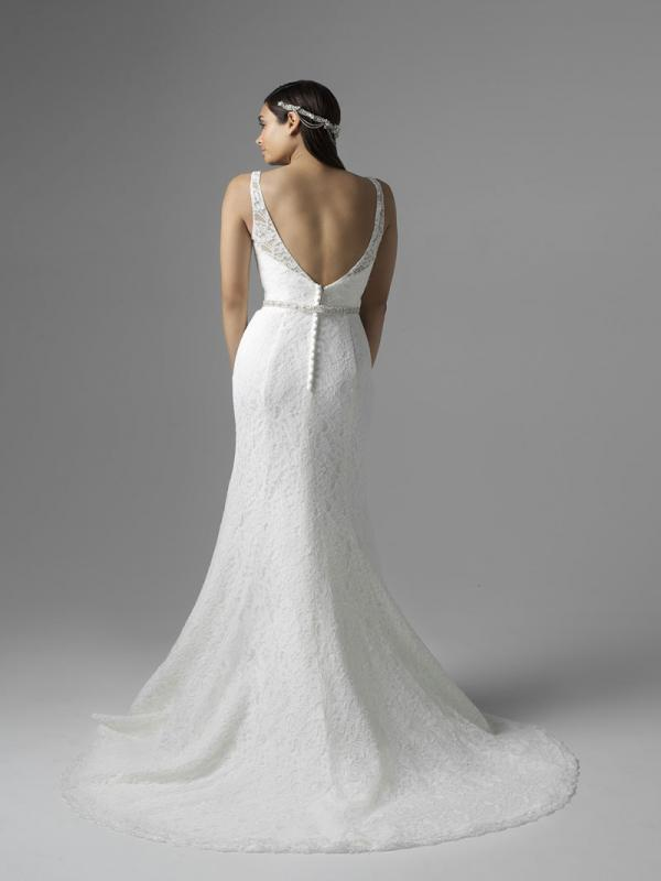CHLOE M1660Z low button back fitted lace wedding dress Mia Solano Luv Bridal Sydney Australia