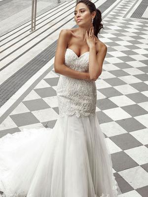 DANA 1 strapless mermaid wedding dress with tulle skirt Luv Bridal Gold Coast Australia