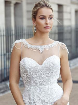 DANIELA 3 beaded lace straight wedding dress Luv Bridal Melbourne Australia