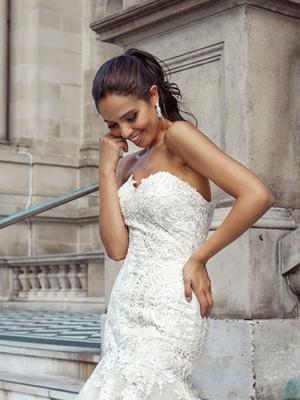DANNI 1 strapless art deco sweetheart mermaid gown Luv Bridal Gold Coast Australia