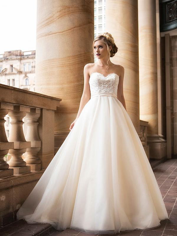 DAVINA 1 strapless tulle ballgown wedding dress Luv Bridal Brisbane Australia