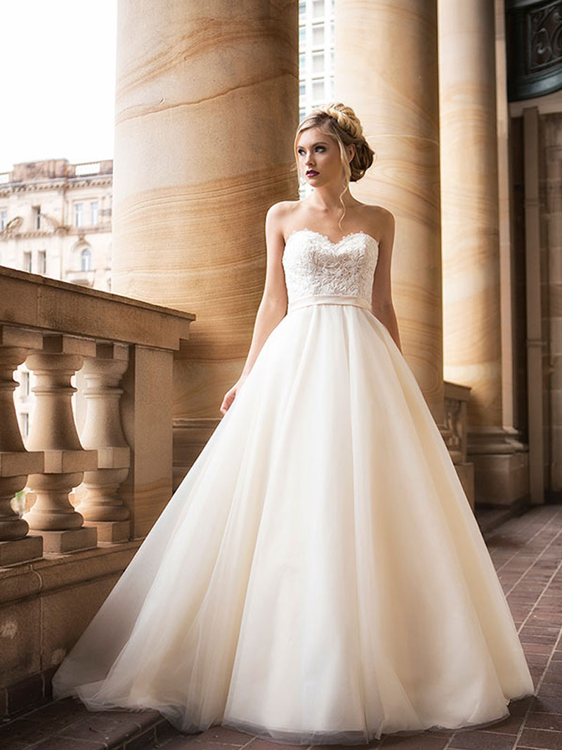 fbfd79329f1 DAVINA 1 strapless tulle ballgown wedding dress Luv Bridal Brisbane  Australia