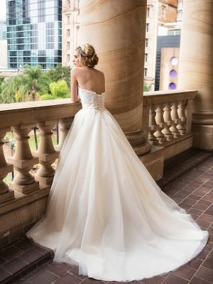 DAVINA 3 lace up back ballgown wedding dress Luv Bridal Brisbane Australia