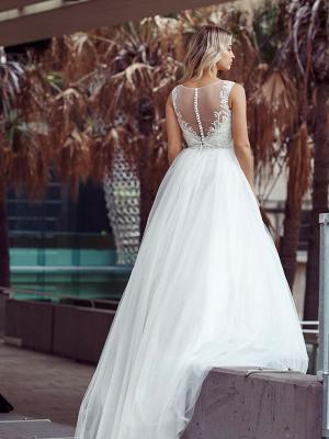 DECLA 3 sheer illusion beaded bodice ballgown wedding dress Luv Bridal Gold Coast Australia