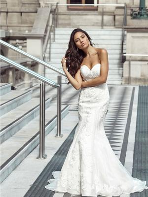 DELTA 1 fit and flare strapless wedding dress Luv Bridal Melbourne Australia