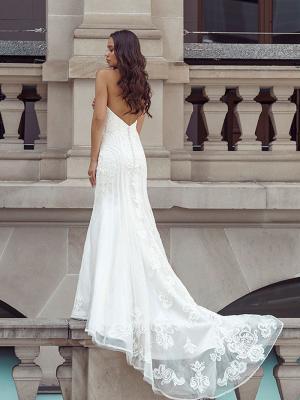 DELTA 2 low back strapless wedding dress Luv Bridal Gold Coast Australia