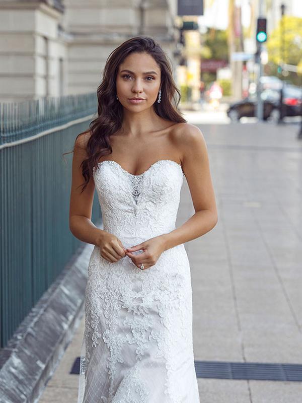 DEXI deep sweetheart strapless fitted wedding dress Luv Bridal Sydney Australia