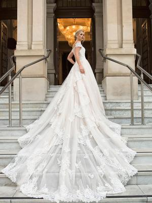 DIANA 2 long train royal ballgown wedding dress Luv Bridal Melbourne Australia