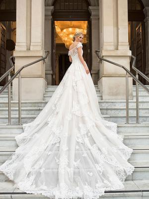DIANA 4 long train romantic sleeve wedding dress Luv Bridal Melbourne Australia