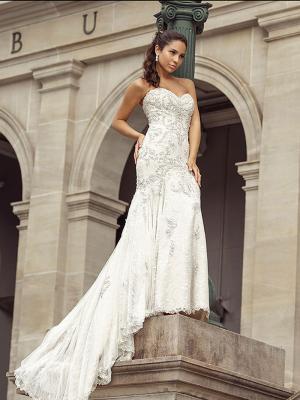 DIXIE 1 silver metalic beaded strapless mermaid wedding dress Luv Bridal Sydney Australia