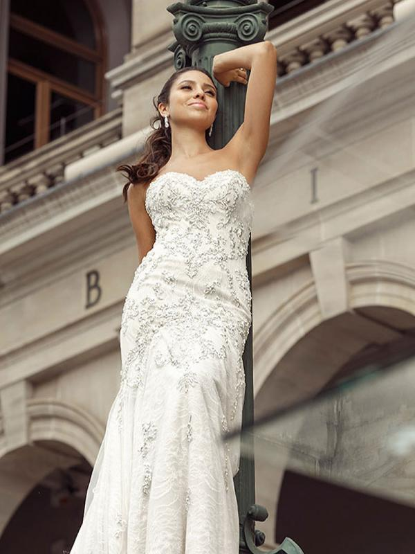 DIXIE 2 straples mermaid wedding dress with heavy beading Luv Bridal Melbourne Australia