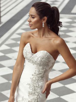 DUSK 2 embellished beaded strapless sweetheart mermaid wedding gown Luv Bridal Brisbane Australia