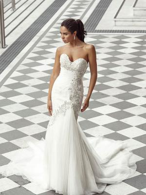 DUSK 3 strapless sweetheart mermaid wedding dress with silver beading Luv Bridal Melbourne Australia
