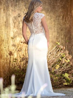 LEXIe L1030z sheer button back embellished lace wedding dress Luv Bridal Melbourne Australia