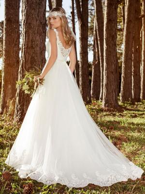 LILLIAN L1036z low illusion back tulle lace ballgown wedding dress Luv Bridal Melbourne Australia