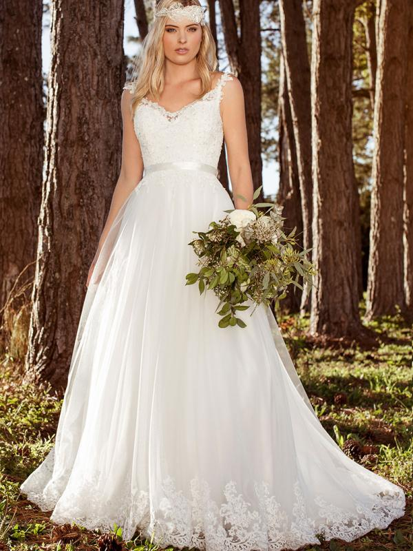 LILLIAN L1036z tulle lace illusion back ballgown wedding dress Luv Bridal Adelaide Australia