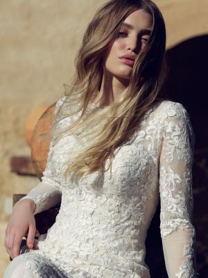 LIZBETH L1035z long sleeve sheer lace wedding dress Luv Bridal Gold Coast Australia