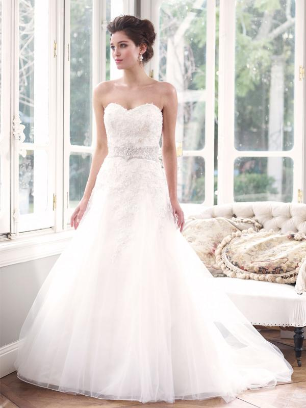 ARIANNA M1305 strapless silver beaded fitted long bodice a line wedding dress Luv Bridal Gold Coast Australia