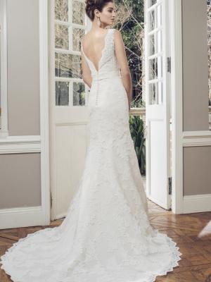 AMOR M1434Z v neck low back full lace wedding dress Luv Bridal Melbourne Australia