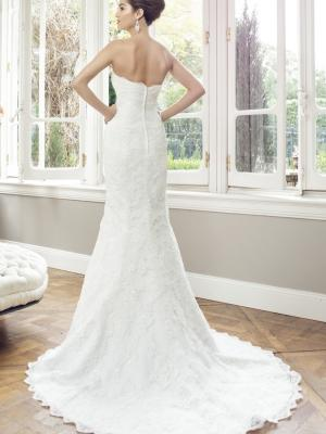 ADELE M1441Z zip back strapless sweetheart scalloped lace wedding dress Luv Bridal Sydney Australia