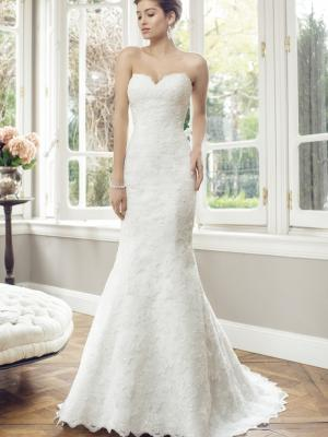 ADELE M1441Z strapless sweetheart scalloped lace wedding dress Luv Bridal Sydney Australia