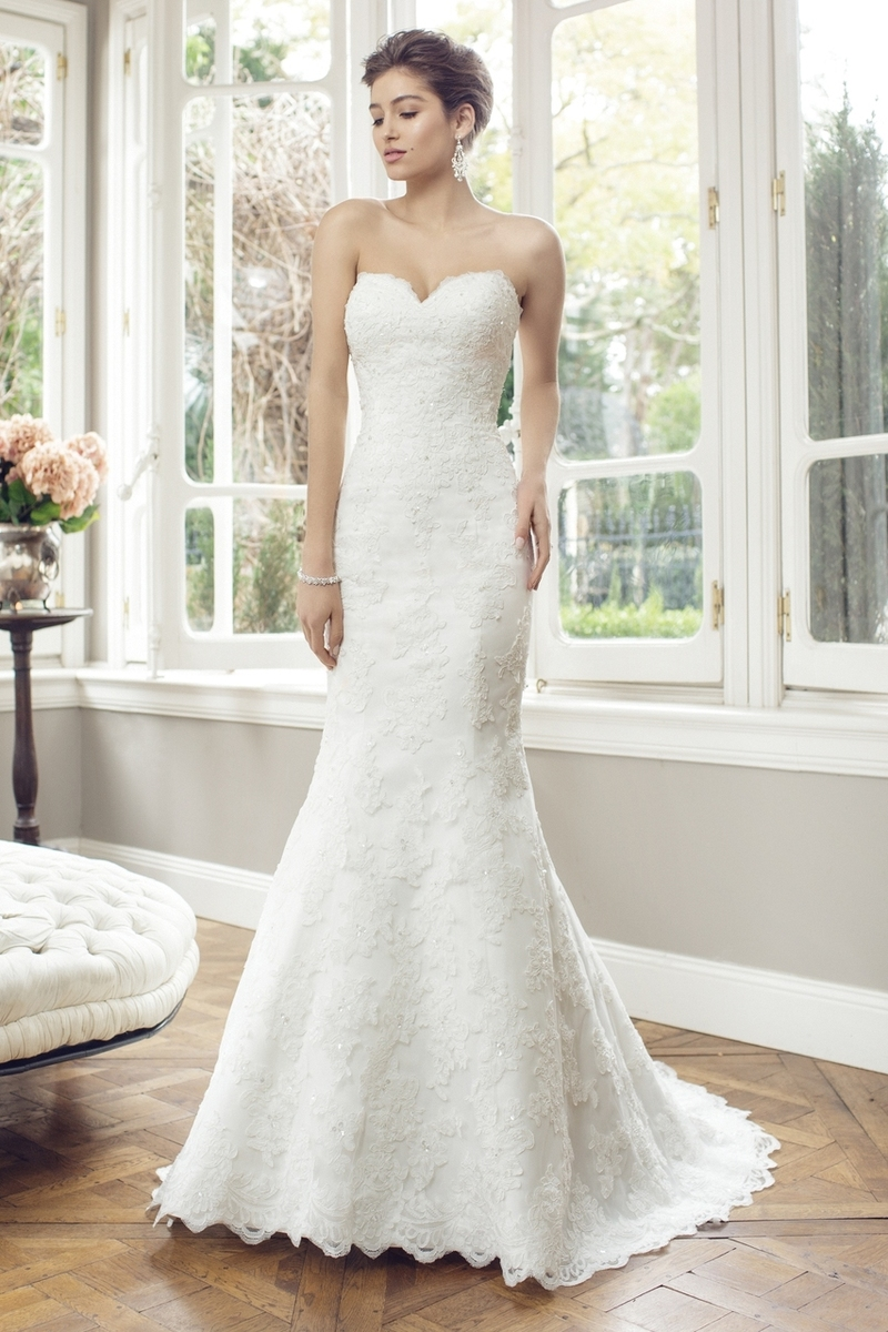 ADELE M1441Z strapless sweetheart scalloped lace wedding dress Luv Bridal Sydney Australia